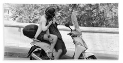 Vespa Romance Beach Towel