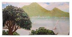 Vesuvius And Umbrella Pine Tree II Beach Sheet