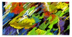 Colorful Impressions Beach Towel
