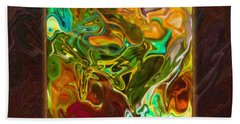 Vibrant Fall Colors An Abstract Painting Beach Towel