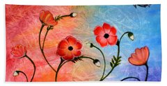 Vibrant Poppies Beach Sheet