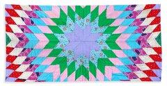 Vibrant Quilt Beach Sheet by Art Block Collections
