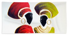 Vibrant Zulu Ladies - Original Artwork Beach Towel