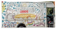 Vic And Nat'ly And The Leidenheimer Po-boy Truck - New Orleans Beach Sheet by Kathleen K Parker