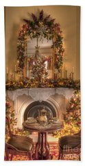 Victorian Christmas By The Fire Beach Towel