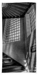 Victorian Jail Staircase V2 Beach Towel