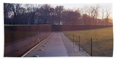 Vietnam Veterans Memorial At Sunrise Beach Towel by Panoramic Images