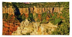 Beach Sheet featuring the photograph View From Angel Point  by Bob and Nadine Johnston