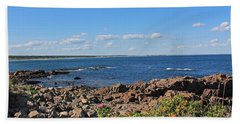 View From Marginal Way Ogunquit Maine 3 Beach Towel