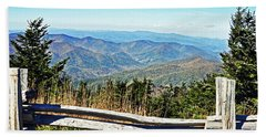 View From Mt. Mitchell Summit Beach Towel by Lydia Holly