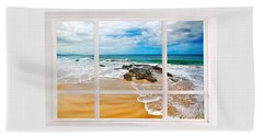 View From My Beach House Window Beach Sheet