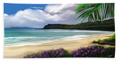 Beach Towel featuring the digital art View From My Villa by Anthony Fishburne