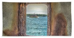 Beach Towel featuring the photograph View From The Fort by Jane Luxton