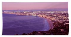 View Of Los Angeles Downtown Beach Towel by Panoramic Images