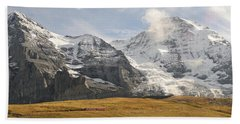 View Of Mt Eiger And Mt Monch, Kleine Beach Towel