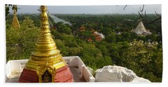Beach Sheet featuring the photograph View Over Ancient City Of Mandalay Aungmyaythazan From Mandalay Hill Mandalay Burma by Ralph A  Ledergerber-Photography