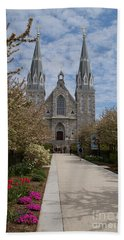 Villanova University Main Chapel  Beach Towel