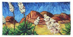 Beach Towel featuring the painting Vincent In Arizona by James W Johnson