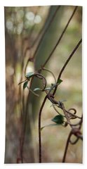 Vine On Rusted Fence Beach Towel