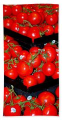Vine Ripened Tomatoes Beach Towel