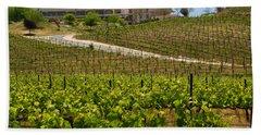 Vineyard And Chateau Beach Towel