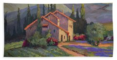 Vineyard And Lavender In Provence Beach Towel