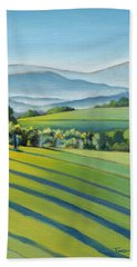 Vineyard Blue Ridge On Buck Mountain Road Virginia Beach Towel by Catherine Twomey
