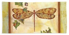 Vineyard Dragonfly Beach Towel