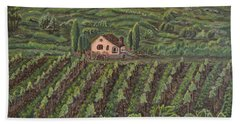 Vineyard In Neuchatel Beach Towel