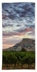 Vineyards And Mt Garfield Beach Towel by Ronda Kimbrow
