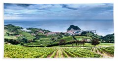 Vineyards By The Sea Beach Towel