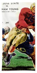 Vintage American Football Poster Beach Towel
