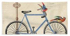 Vintage Bike-b Beach Towel