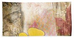 Vintage Buddha And Ginkgo Beach Towel