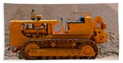 Vintage Bulldozer Beach Sheet