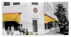 Vintage Cartier Store Beach Sheet