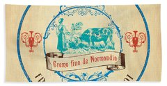 Vintage Cheese Label 3 Beach Towel