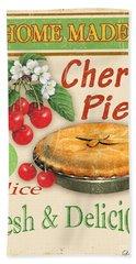 Vintage Cherry Pie Sign Beach Towel