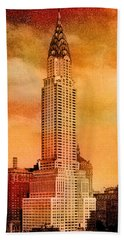 Vintage Chrysler Building Beach Towel