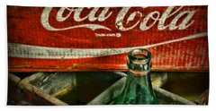 Vintage Coca-cola Beach Towel by Paul Ward