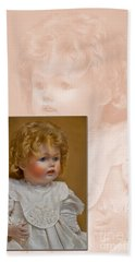Vintage Doll Beauty Art Prints Beach Towel