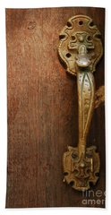 Beach Sheet featuring the photograph Vintage Door Handle by Patrick Shupert