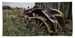 Vintage Farm Tractor Color Beach Sheet
