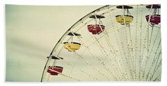 Vintage Ferris Wheel Beach Towel