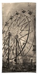 Vintage Ferris Wheel Beach Sheet