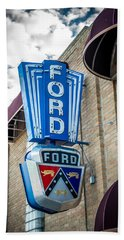 Vintage Ford Sign Beach Sheet
