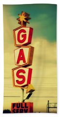 Vintage Gas Sign Beach Towel