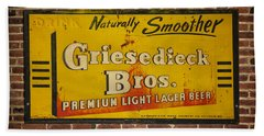 Vintage Griesedieck Bros Beer Dsc07192 Beach Sheet by Greg Kluempers