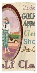 Vintage Ladies Golf  Beach Towel