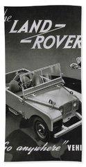 Vintage Land Rover Advert Beach Towel